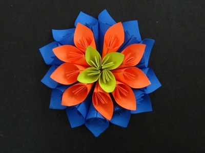 Paper Flower Tutorial: How to make a Kusudama Flower
