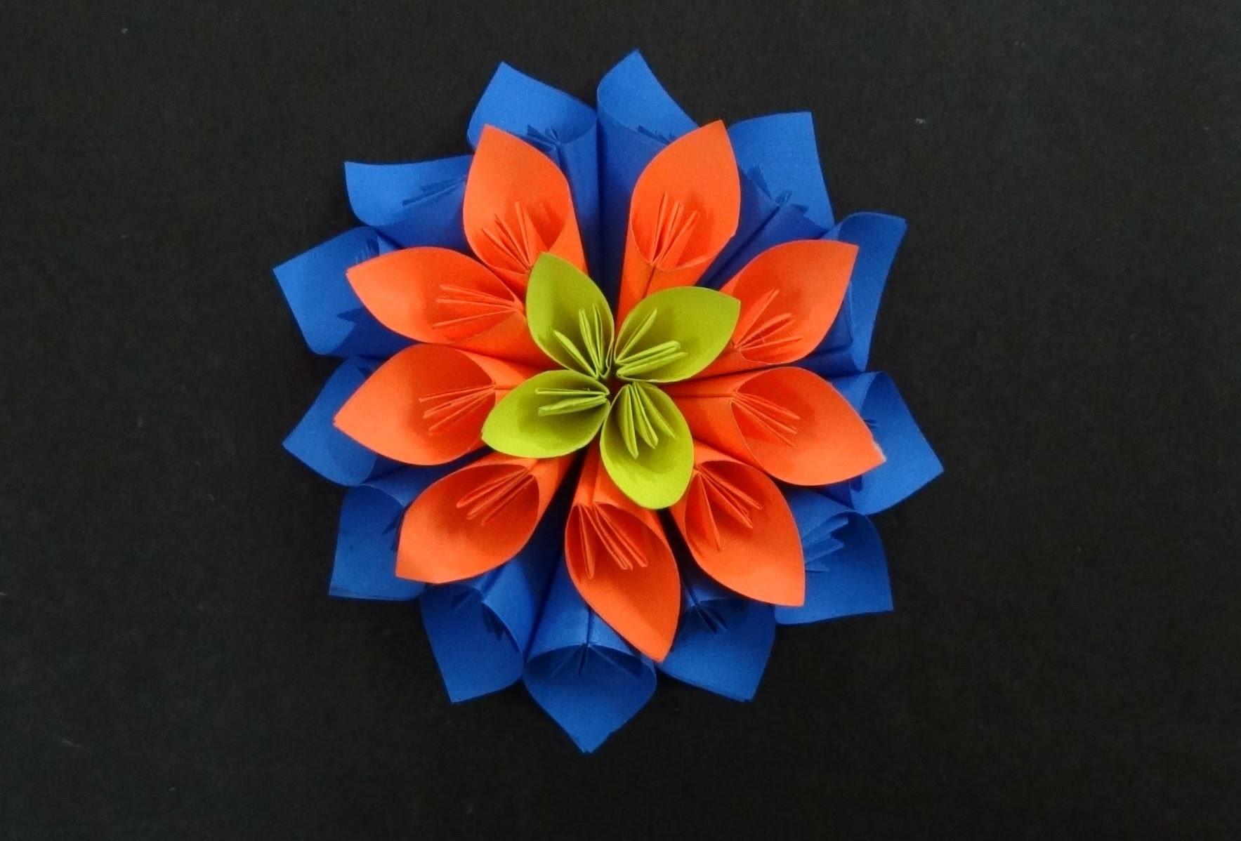 Paper Flower Tutorial: How to make a Kusudama Flower