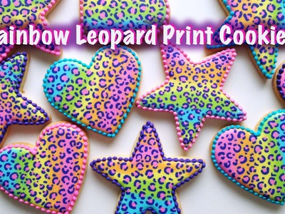 Rainbow Leopard Print Cookies!