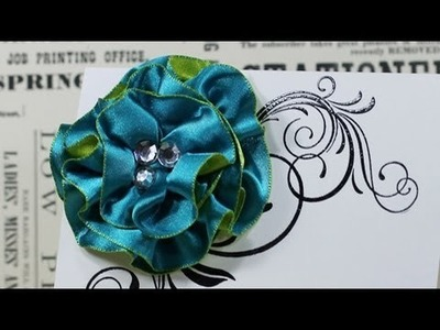 Ribbon Flower - Satin Ribbon and a Gluber