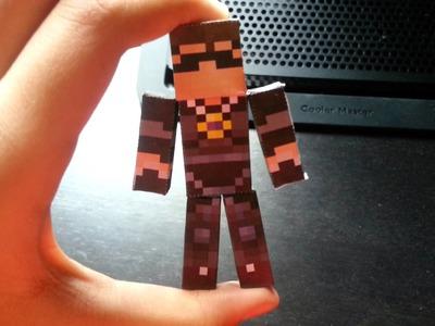 Skydoesminecraft pixel paper craft