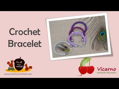 Slip Stitch Crochet Bracelet - English