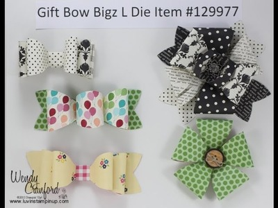 Stampin' UP! Gift Bow Bigz L Die Convention Bow