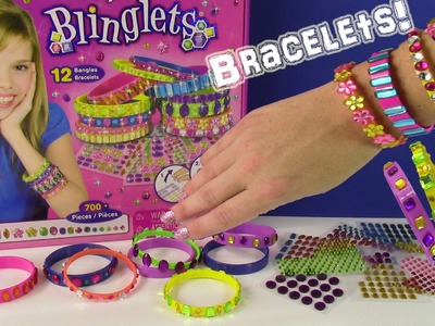 Stick 'N Style Blinglets! DIY Bangle Bracelets! Make Your Own Blinged Out Jewelry! FUN