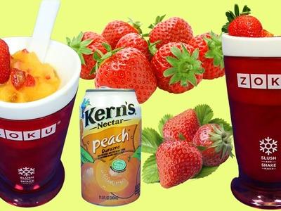 Zoku Frozen Treats Slush Maker | Easy DIY How to Make Strawberry Peach Fruit Slush!