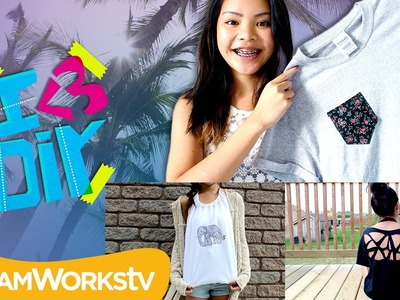 3 Easy T-Shirt Upgrades with Jade Lo | I ♥ DIY