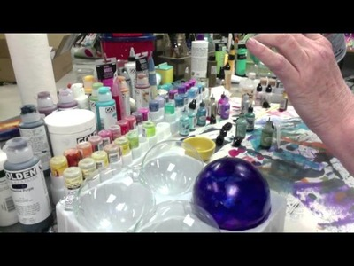 Alcohol Ink Ornaments -- How NOT to Make Them!!! - Patti Tolley Parrish - Inky Obsessions