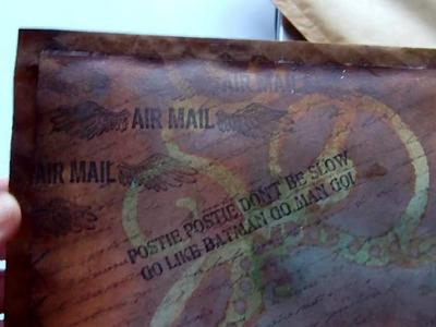 Altered Envelope. Mail Art &  Mixed Media Whimsical Portrait