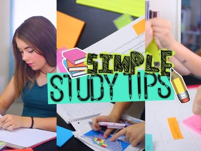 Back to School Study Tips! Easy Ways To Get Better Grades!