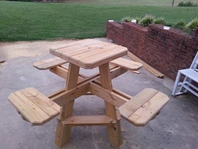 Bar stool picnic table build chapter 1.