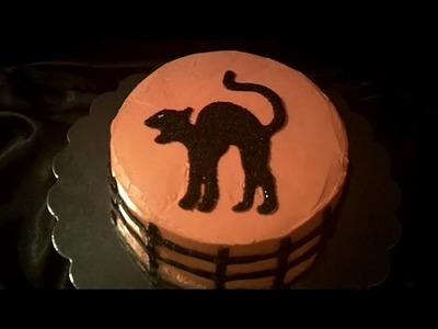 Black Cat Cake Decorating Tutorial