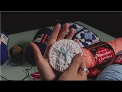 Crochet a Coaster : Crocheted Initials on a Coaster