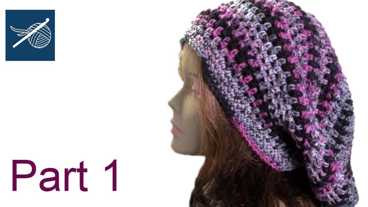 Crochet Slouch Bob Marley Hat Part 1