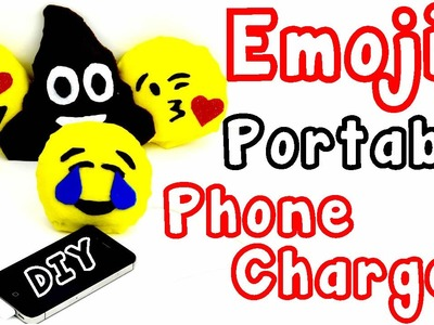DIY Crafts: Emoji Portable Cell Phone Charger