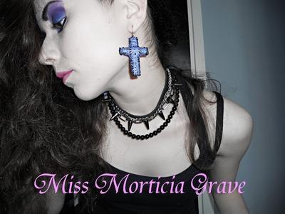 DIY Cross Earrings ( Heavy metal. gothic )