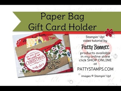 DIY Gift Card Holder with a Paper Bag from Stampin UP!