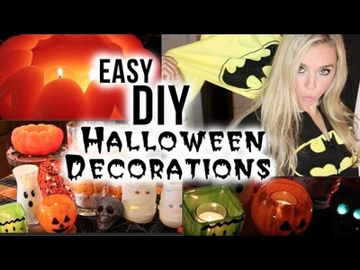 DIY Halloween Crafts & Decorations!! QUICK AND EASY!
