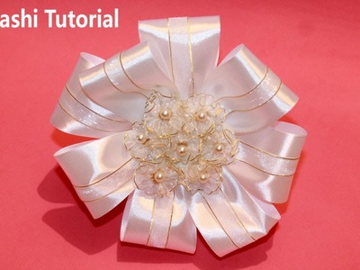 DIY Kanzashi Tutorial Hairclip for School Kanzashi Tutorial
