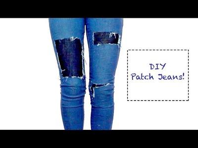DIY Patched Denim Jeans