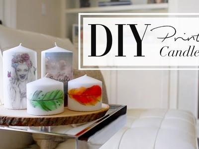 DIY Printed Candles   ANNEORSHINE & WhatsUpMoms
