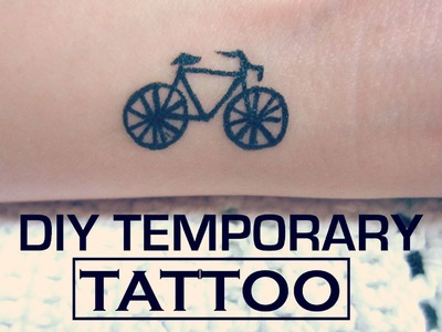 DIY Temporary Tattoo - The Bicycle