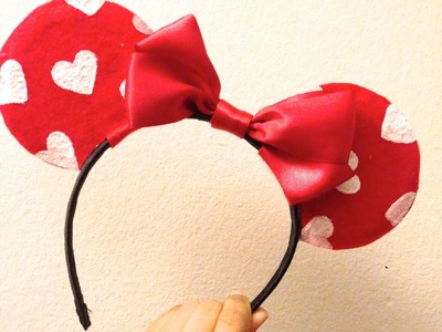 ♥ DIY Valentine's Day Minnie Mouse Ears! ♥