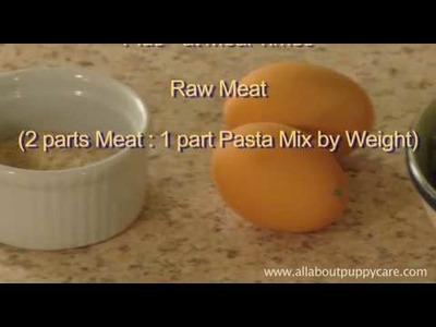 Easy to Make Dog Food, Homemade Dog Food