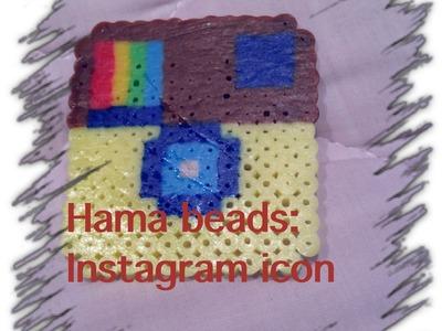Hama. perler beads: Instagram icon