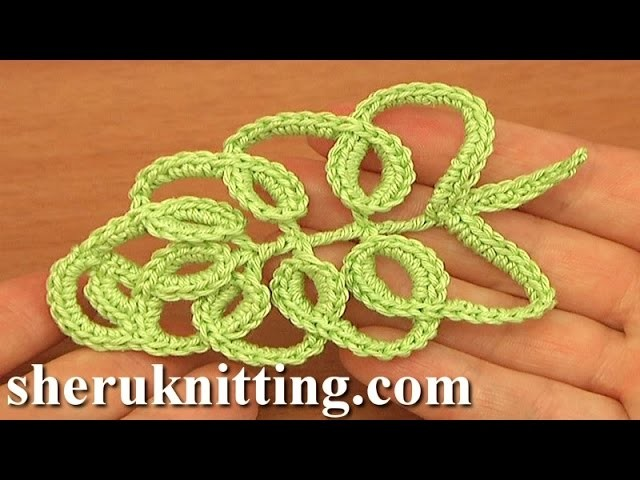 How To Crochet Tall Stitch Leaf Tutorial 33 Part 1 of 2