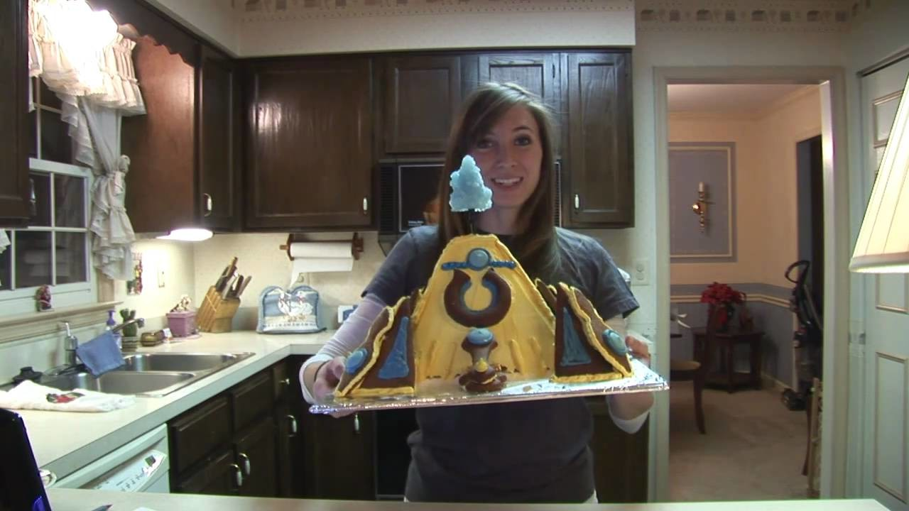 How to make a Protoss Nexus Gingerbread House