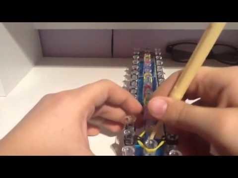 How to make a rainbow bridge bracelet with Rainbow Loom