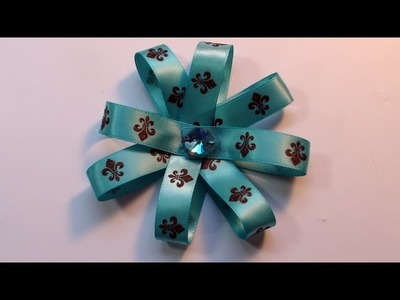 How To Make a Very Easy Christmas Ribbon Flower Bow