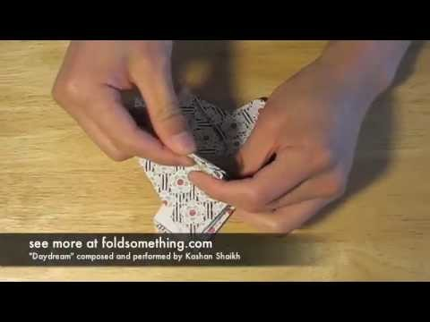 How to make an origami basket or flower pot