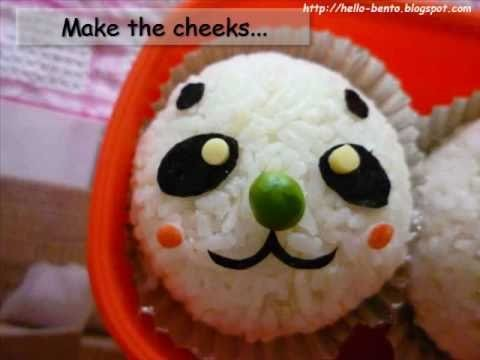 How To Make Bento - Panda Rice Ball ( Onigiri )