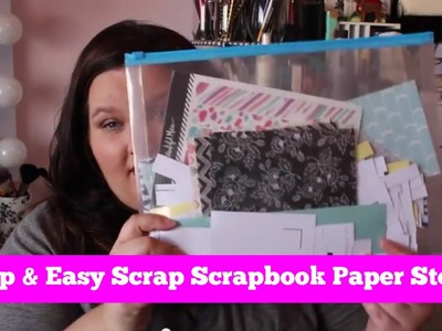 How to Organize Scraps of Scrapbook Paper?  Cheap & Easy!