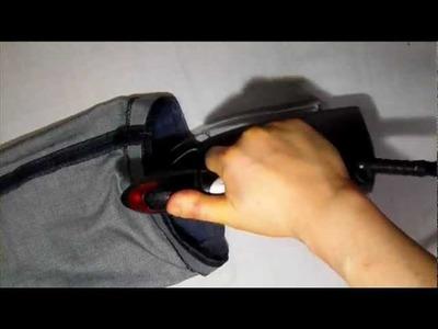 How to shorten Jean Pants  with Attach Original hem part3