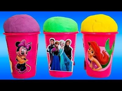 ICE CREAM Surprise Eggs Disney Frozen Princess Ariel Angry Birds Minnie Mouse Surprise Toys Videos