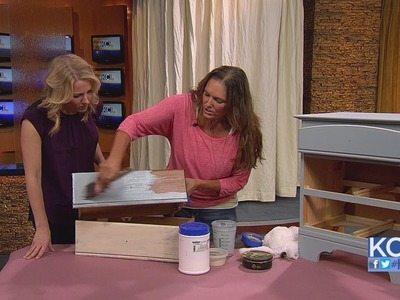 KCL - Our favorite DIY lady, Leanne Lee, owner of Rekindled Spaces, shows us how to distress furnitu