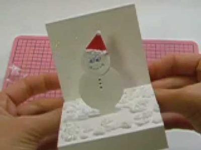 Ku-Ku CARD Snowman in a Box (Muñeco de Nieve en Caja)2:2