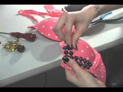 Lady Gaga Inspired Studded Bra Tutorial!