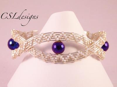 Large waves wirework bracelet
