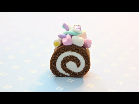 Marshmallow Roll Cake Charm Tutorial