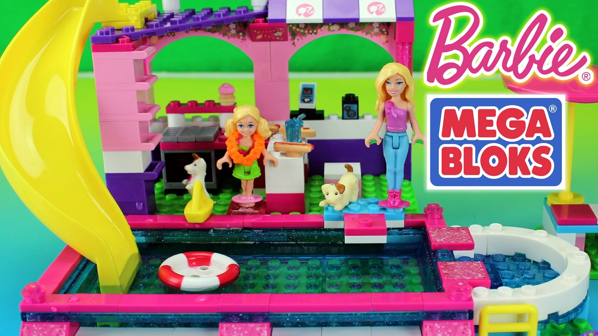 Mega Bloks Build N Play Set Chelsea Pool Party with Barbie