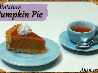 Miniature Pumpkin Pie & Tea - Polymer Clay Tutorial