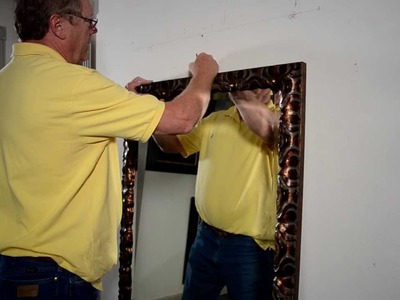 MirrorLot - how to secure a leaning mirror to the wall