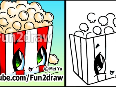 Movie Popcorn - How to Draw Toons (Easy Cartoon Art Lesson)