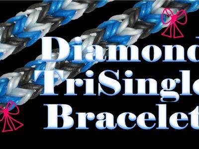 NEW Diamond TriSingle Rainbow Loom Bracelet Tutorial