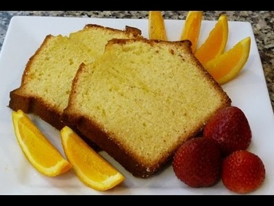 Panque de Naranja Receta facil! (how to orange pound cake)
