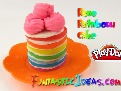 Play Doh Rose Rainbow Cake - How to