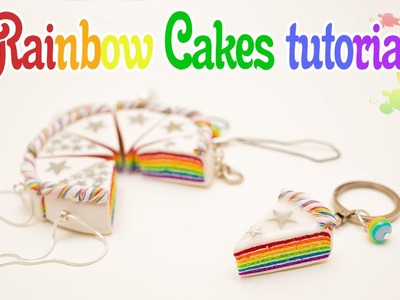 Polymer Clay Rainbow Cakes tutorial + GIVEAWAY!